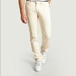 NAKED & FAMOUS Ecru Colour Jeans 100% Cotton